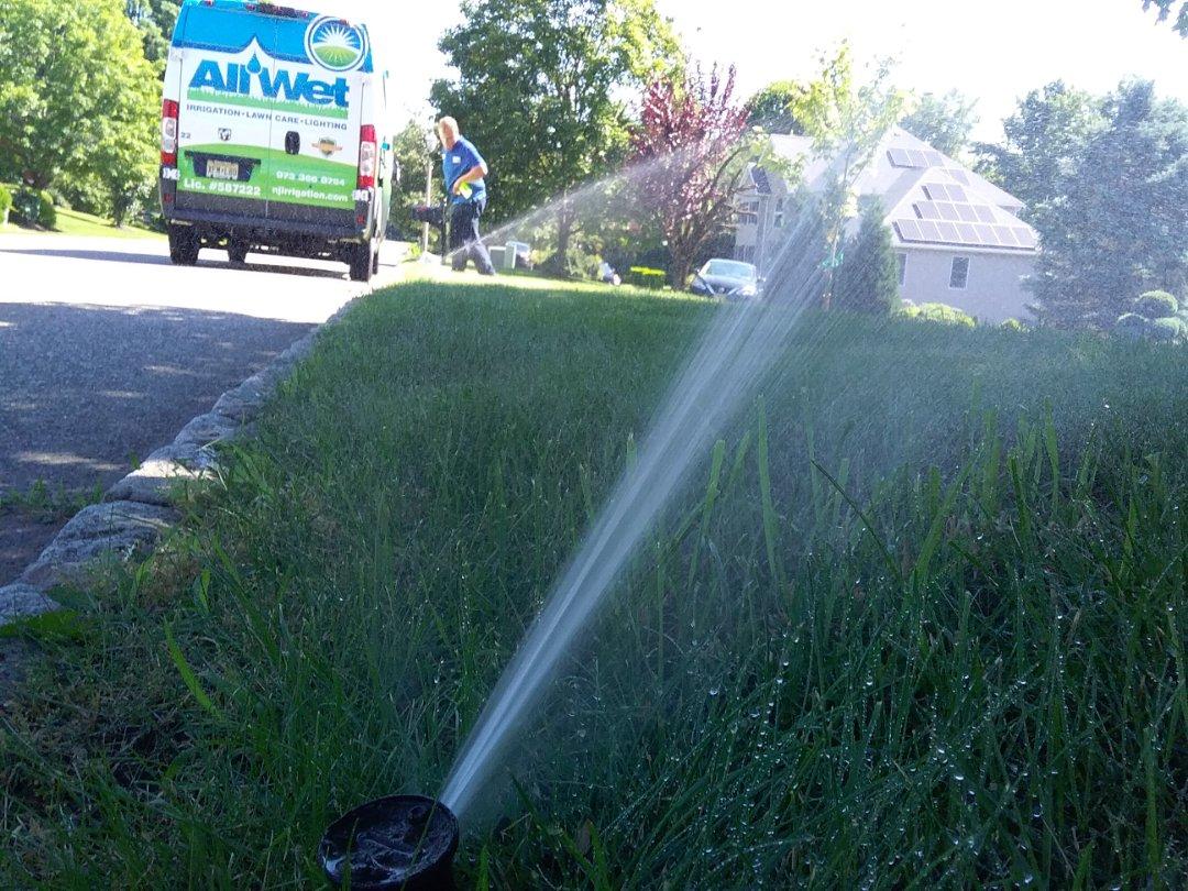 Denville, NJ - Turn on the irrigation system
