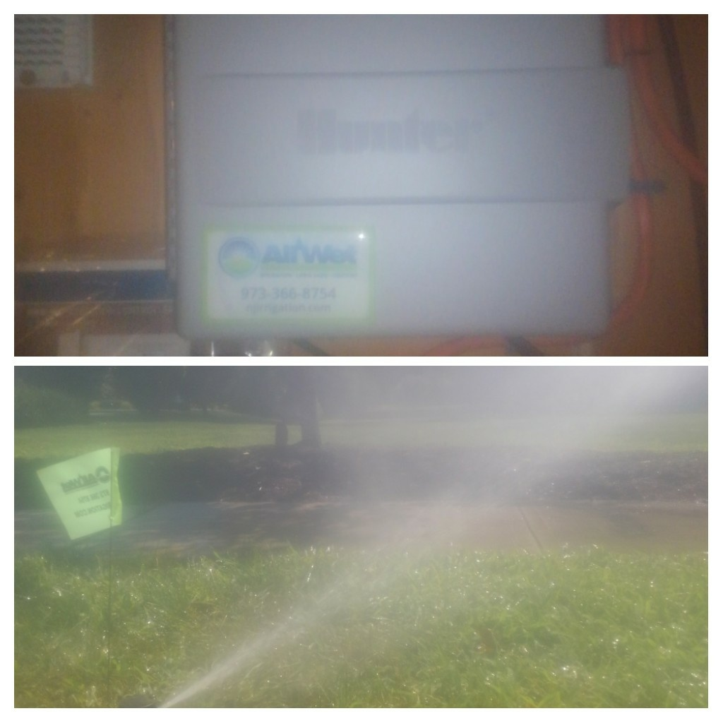 Denville, NJ - Replace sprinkler lawn heads that were leaking and replace timer to a new smart Wi-Fi controller