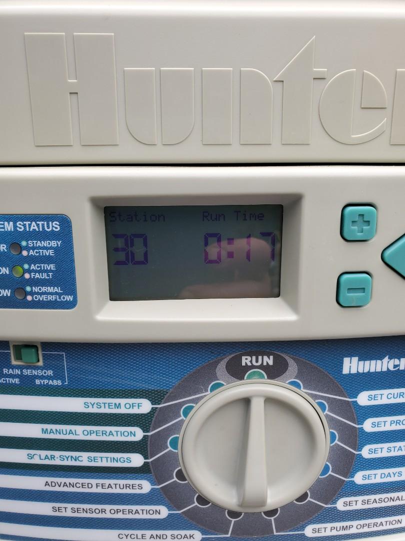 Check sprinkler system set timer