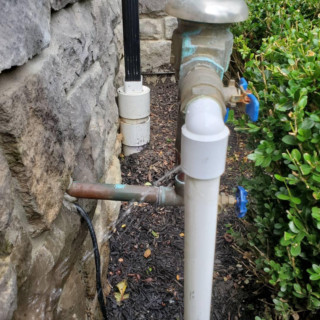 Repair pvc pipe by backflow