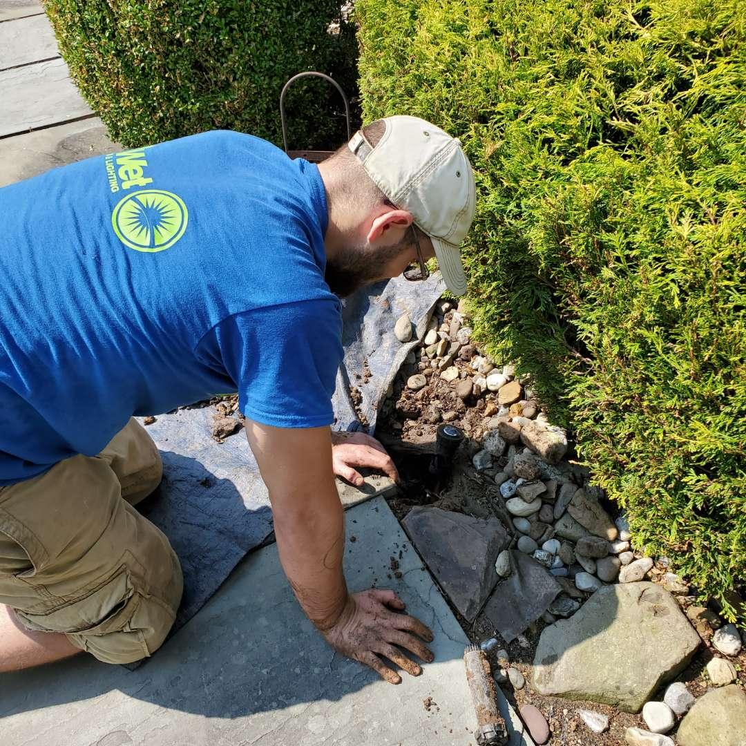 Repair broken sprinkler head