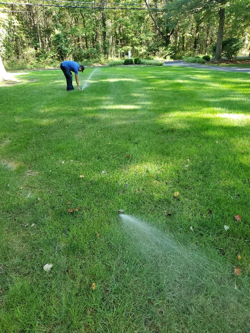 Make adjustments  on sprinkler system