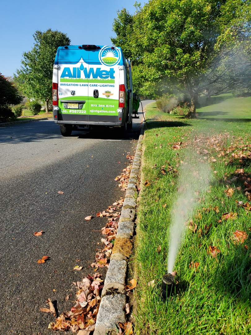 Newton, NJ - Turn off sprinkler system for the winter and get all the water out of lines