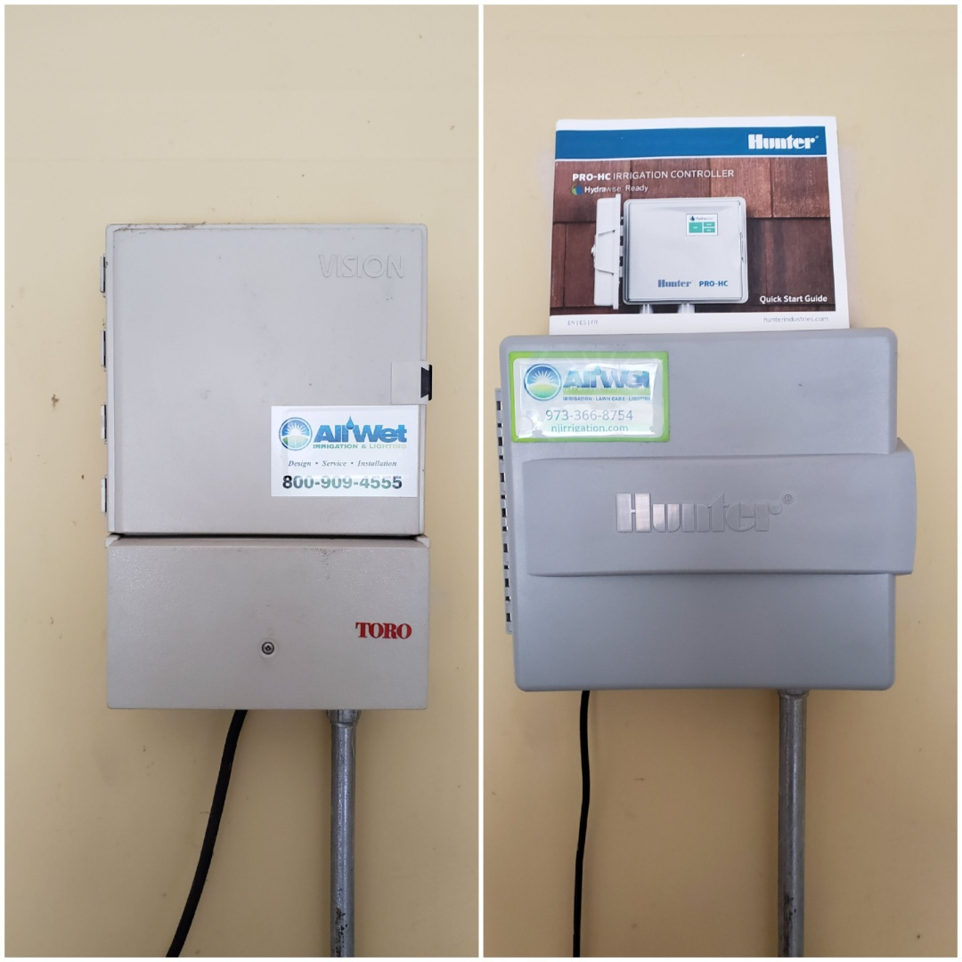 Pequannock Township, NJ - Replace old toro timer to new smart wifi hydrawise controller