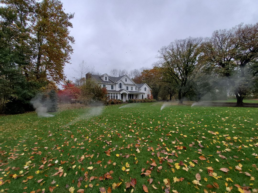 Turn off and blow out sprinkler system