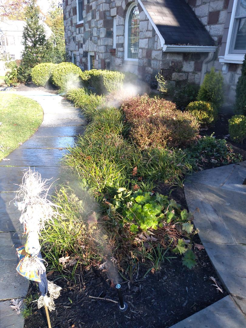 Winterize your sprinkler irrigation system. Drain out. Blow out. Chatam NJ