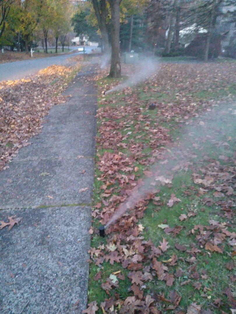 Mendham, NJ - Winterize your sprinkler irrigation system. Drain out. Blow out. Mendham NJ