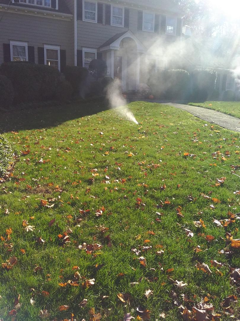 Sprinkler system shut down  Winterization