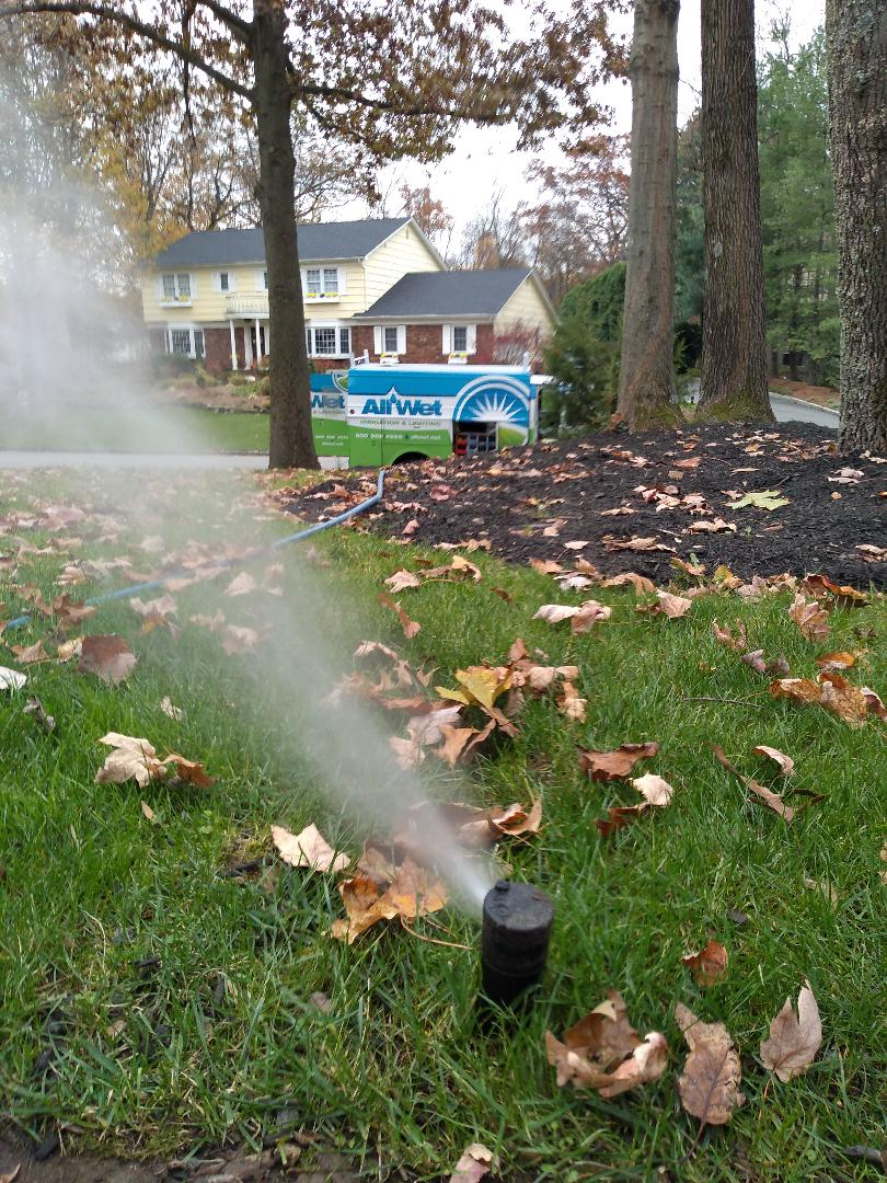Winterize your sprinkler irrigation system.Drain out. Blow out.