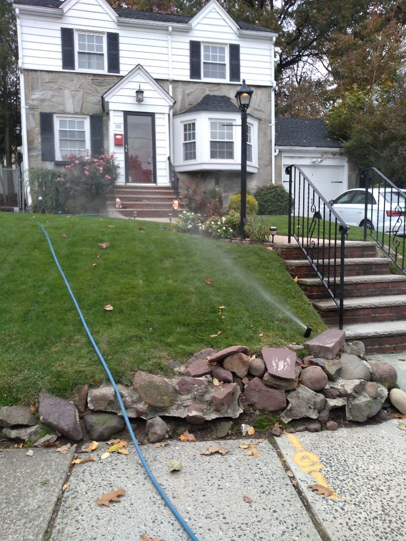 Winterize your sprinkler irrigation system.Drain out. Blow out. In nutley NJ