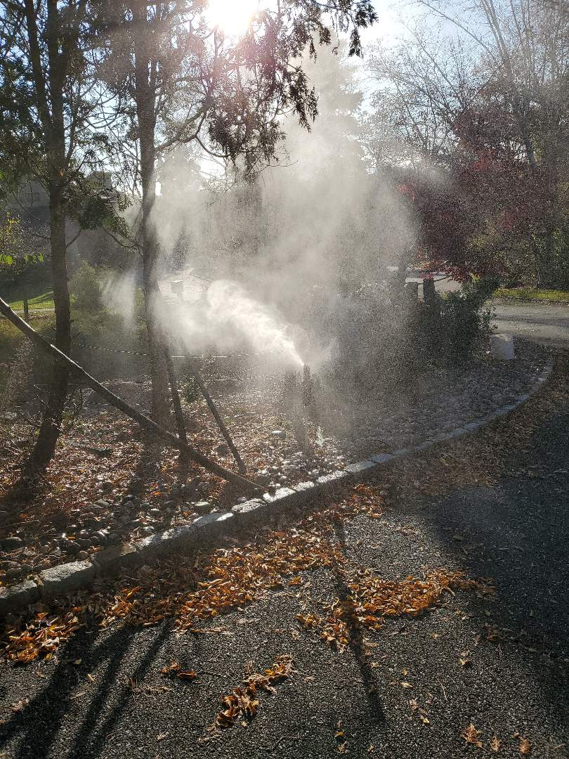 Livingston, NJ - Shutting down a weathermatic sprinkler system and making sure all the water has been evacuated so that there is no freeze over the Winter