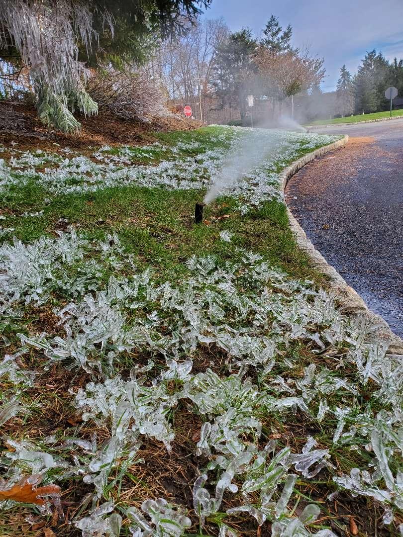 Winterize sprinkler system just in time