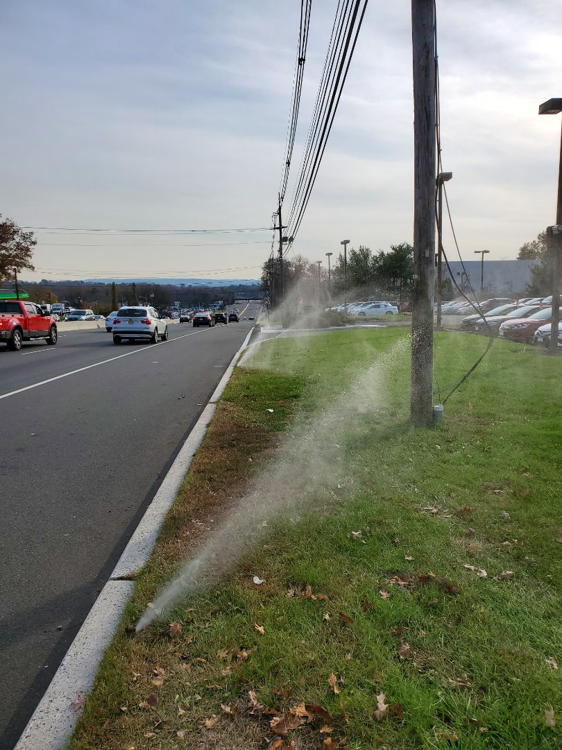 Winterize irrigation system at commercial complex
