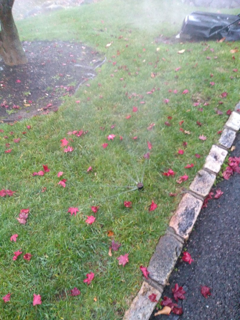 West Caldwell, NJ - Winterize your sprinkler irrigation system. Drain out. Blow out.