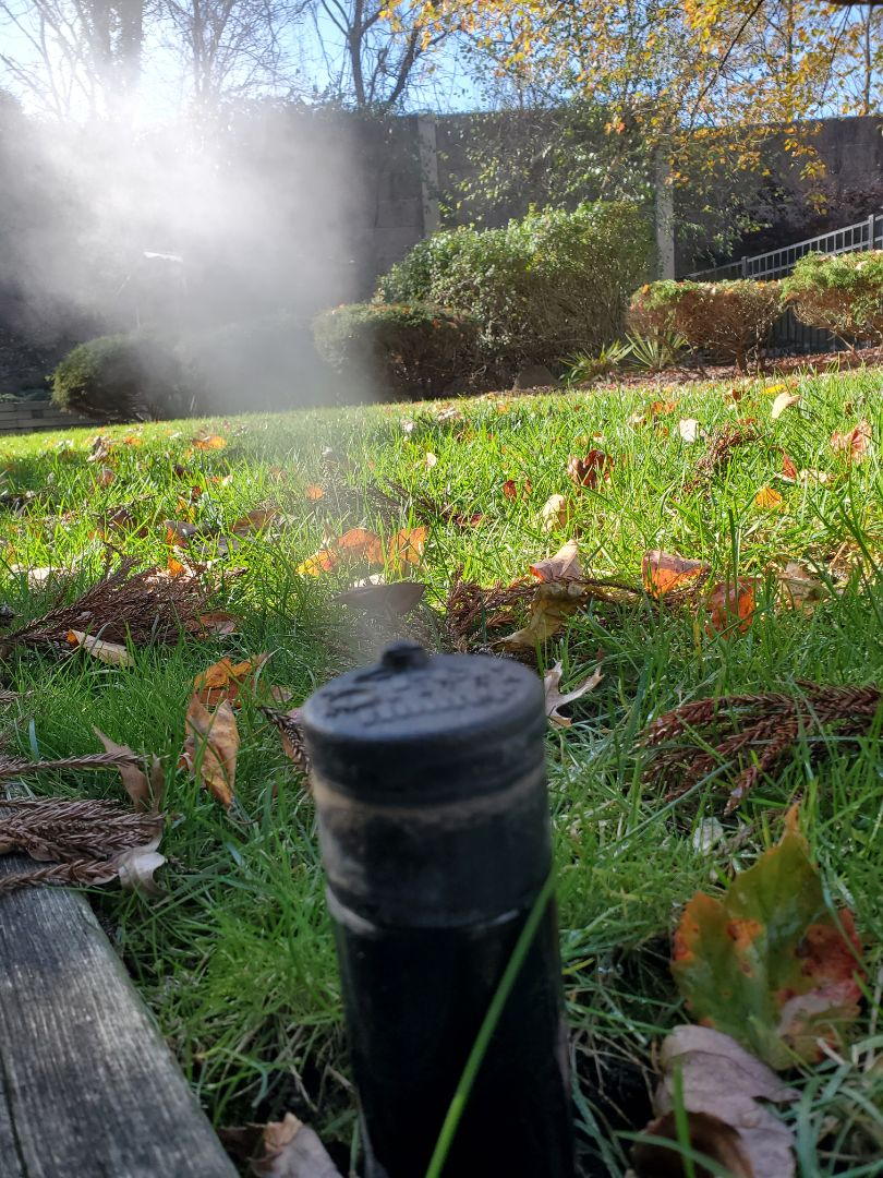 Turn off and blow out irrigation system