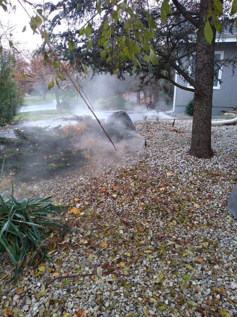 Winterize your sprinkler irrigation system. Drain out. Blow out. North Caldwell NJ