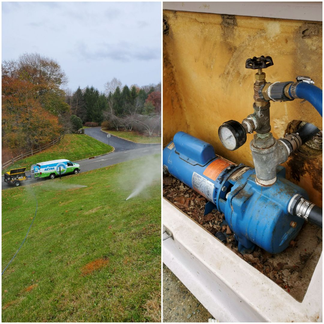 Winterize irrigation system at Association pulling out of a pond