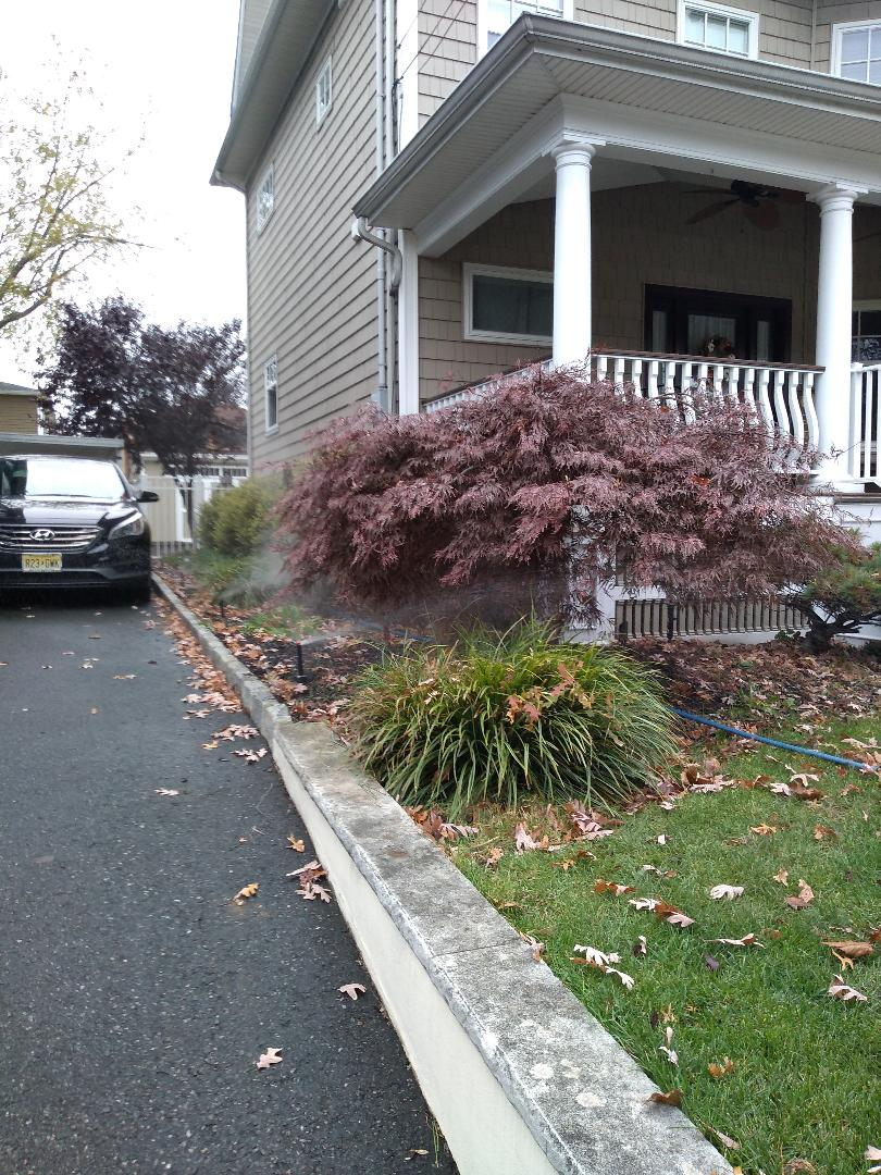 Winterize your sprinkler irrigation system. Drain out. Blow out. Lyndhurst NJ