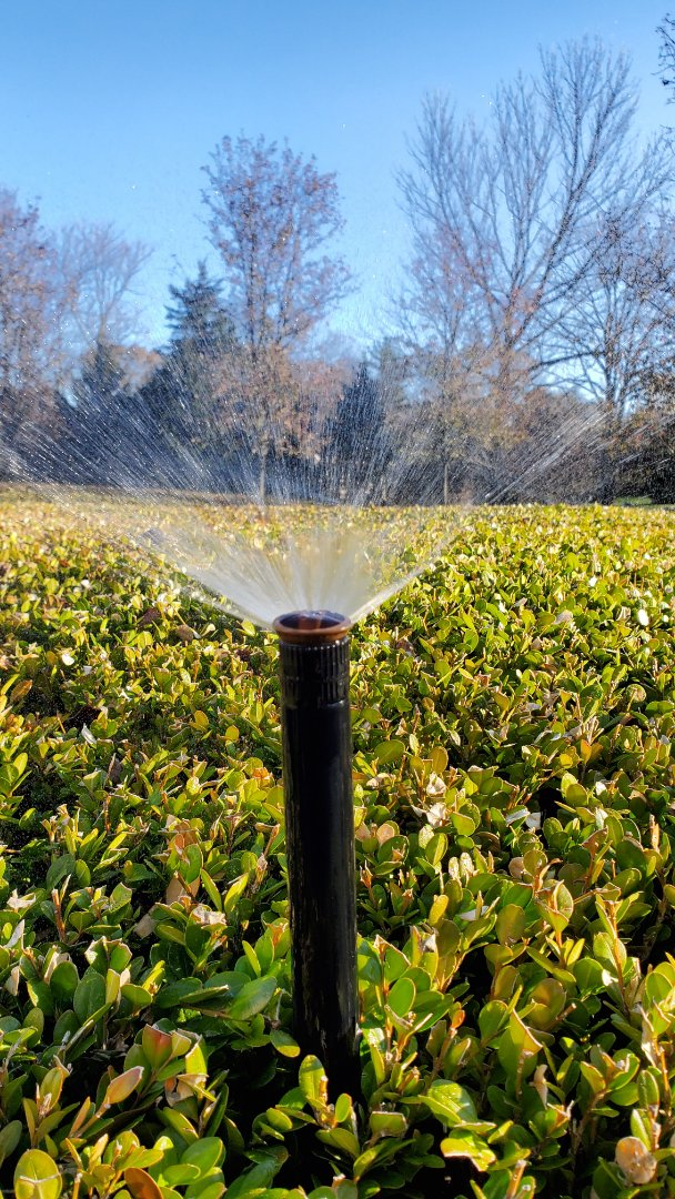 Shut off and blow out irrigation system