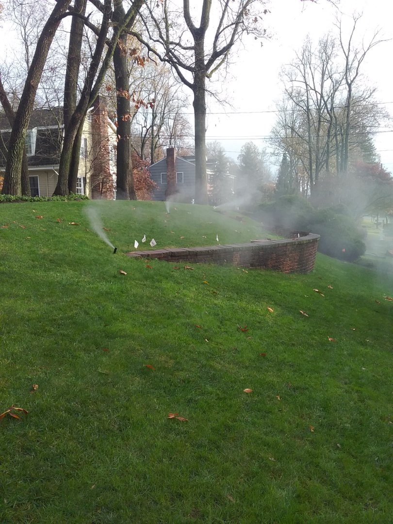 Lawn sprinklers winterization
