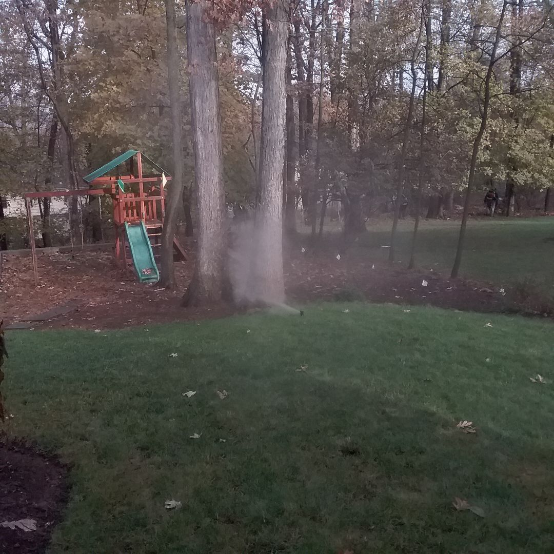 Sprinkler water blow out