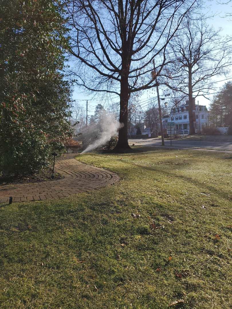 Winter rising a hunter sprinkler system January 2nd