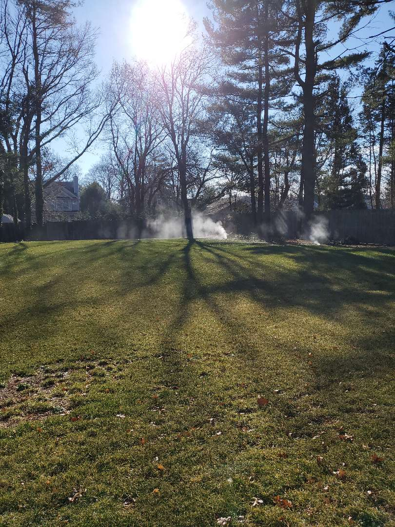 Getting in a Winterization for a hunter sprinkler system on a warm January day