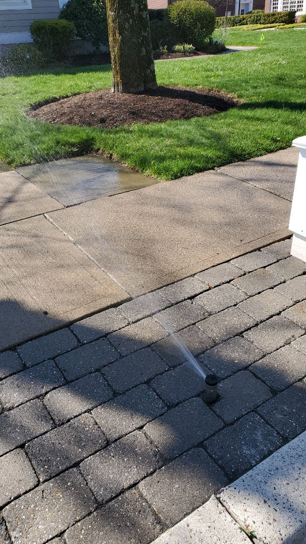 Call your irrigation professionals before you start a outside project to help relocate sprinkler heads
