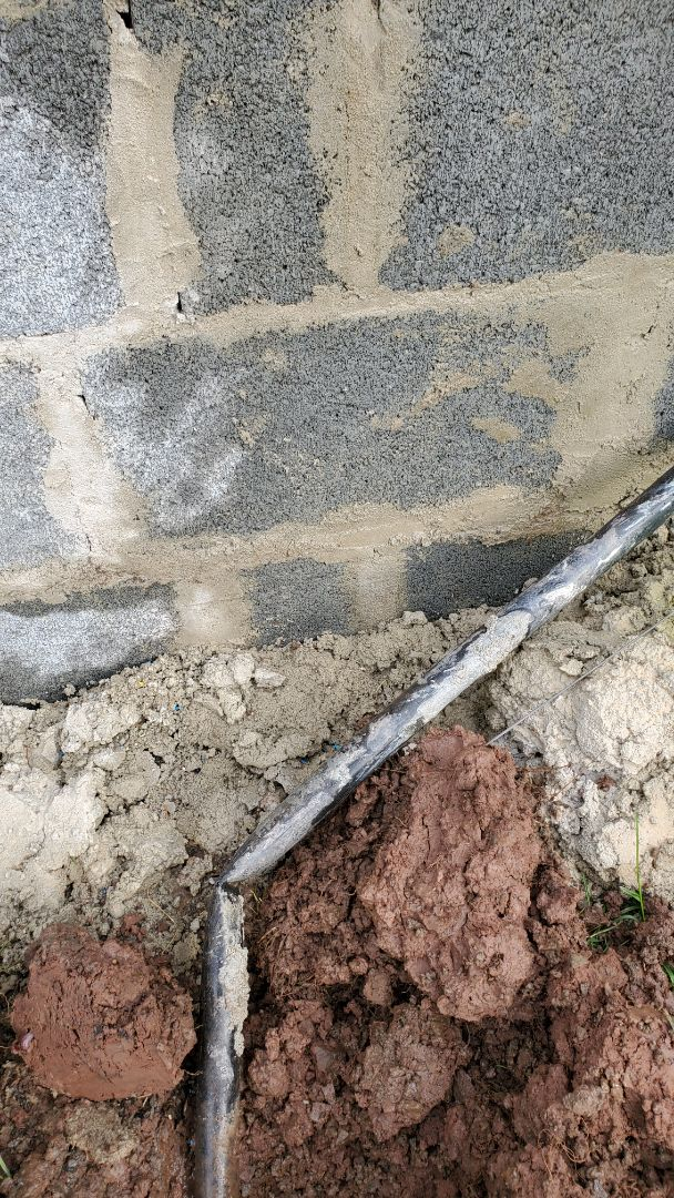 Make sprinkler repairs from construction