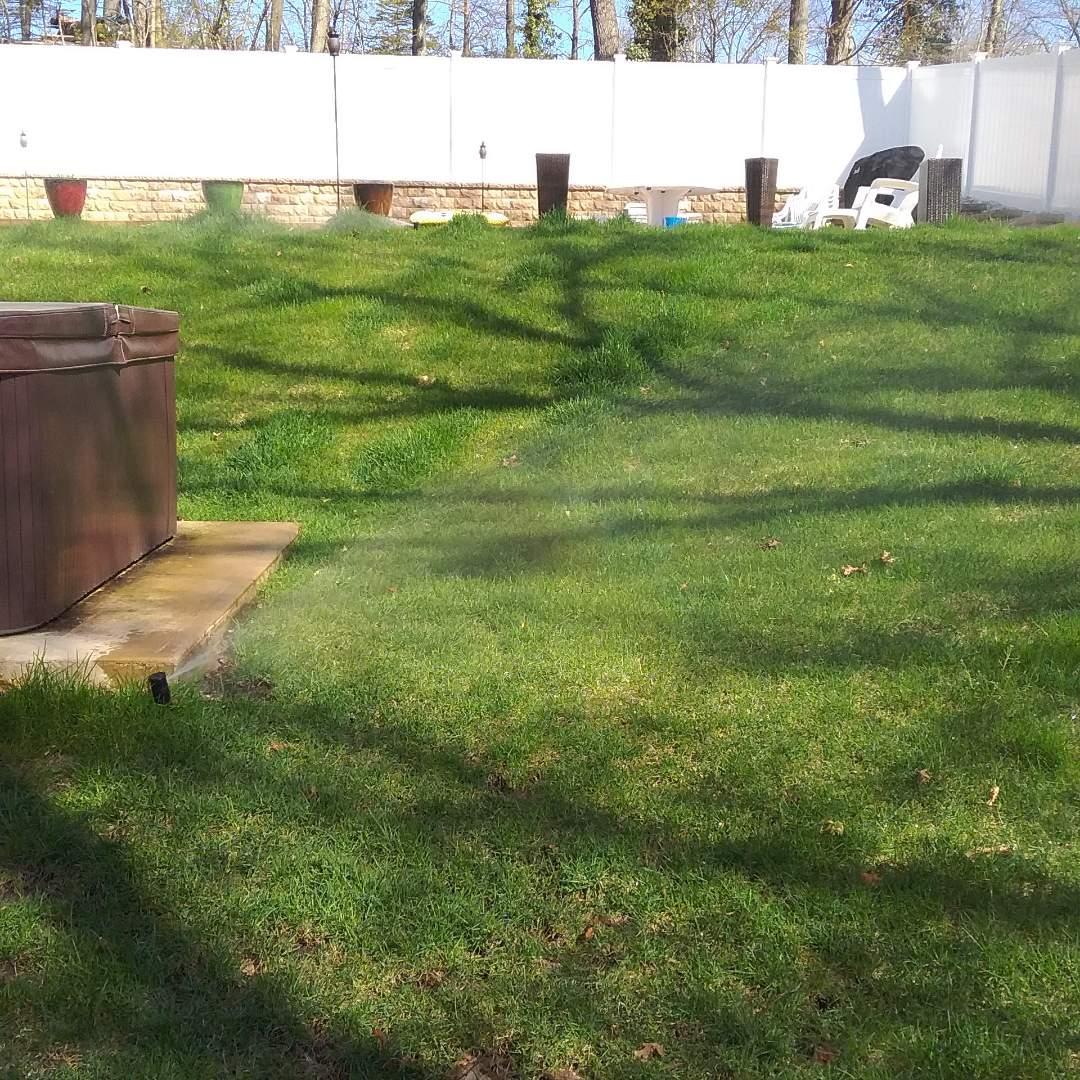 Denville, NJ - Irrigation sprinkler turn on