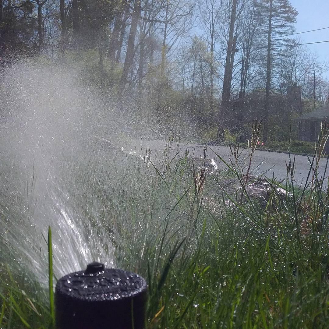 Denville, NJ - Lawn sprinkler turn on