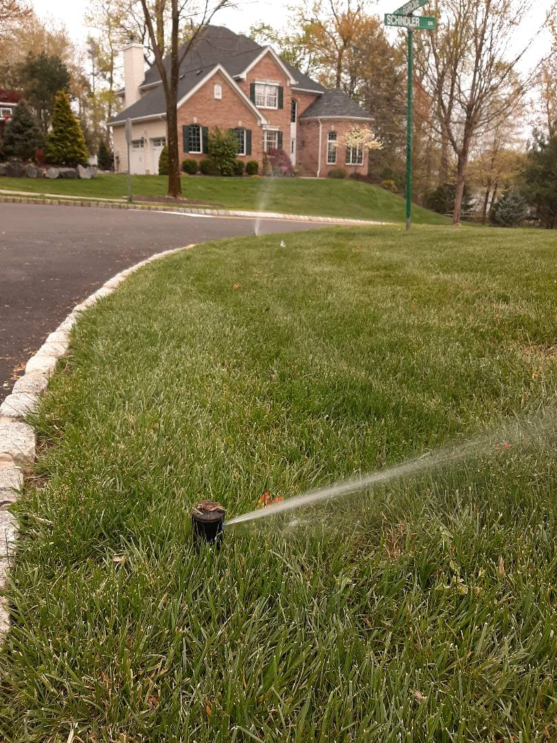 Bernardsville, NJ - Spring start-up, irrigation sprinkler turn on. In Basking Ridge NJ