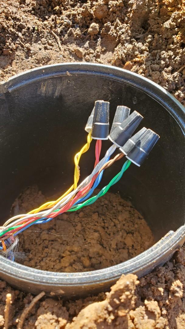 Morris Plains, NJ - Repair sprinkler wire cut fro. New planting