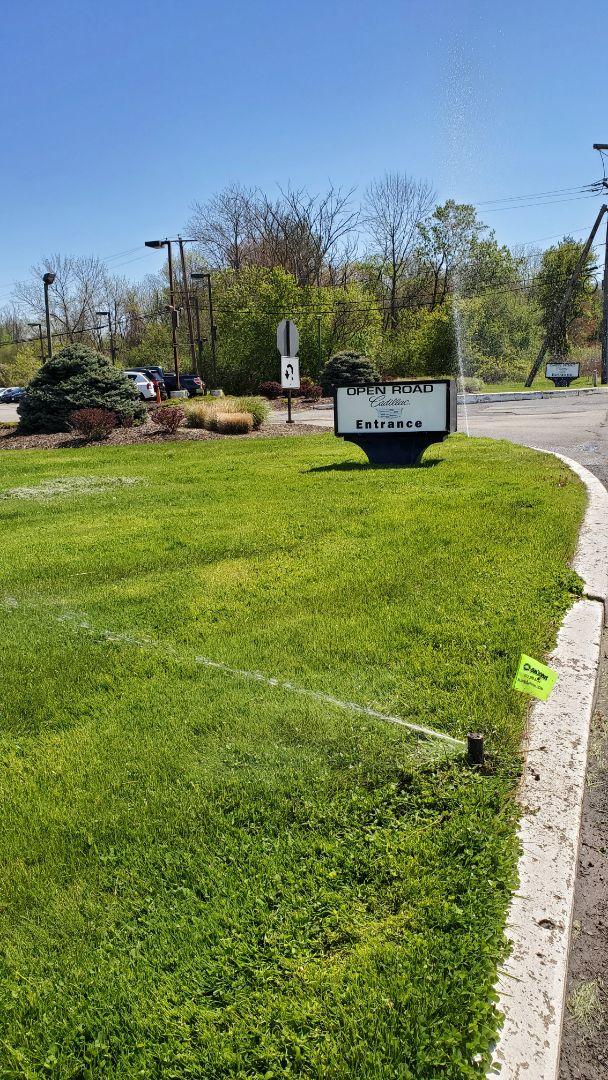 Florham Park, NJ - Check sprinkler system at car dealership. Replaced broken heads