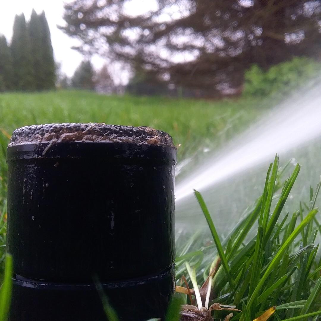 Lawn sprinkler start up and repair broken pvc pipe