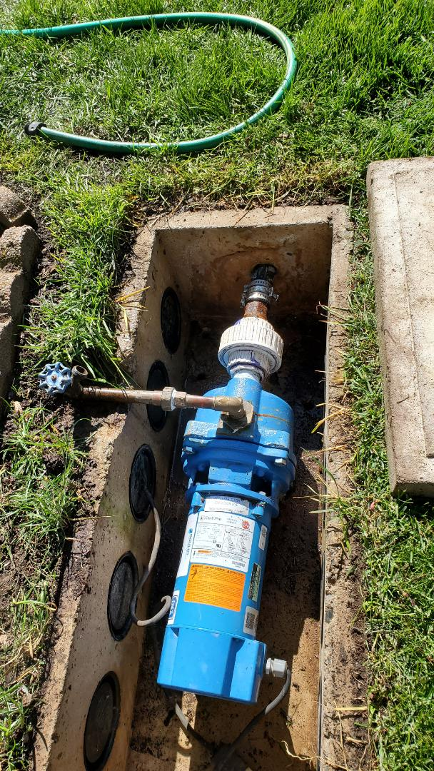 Start up irrigation that pulls from a lake
