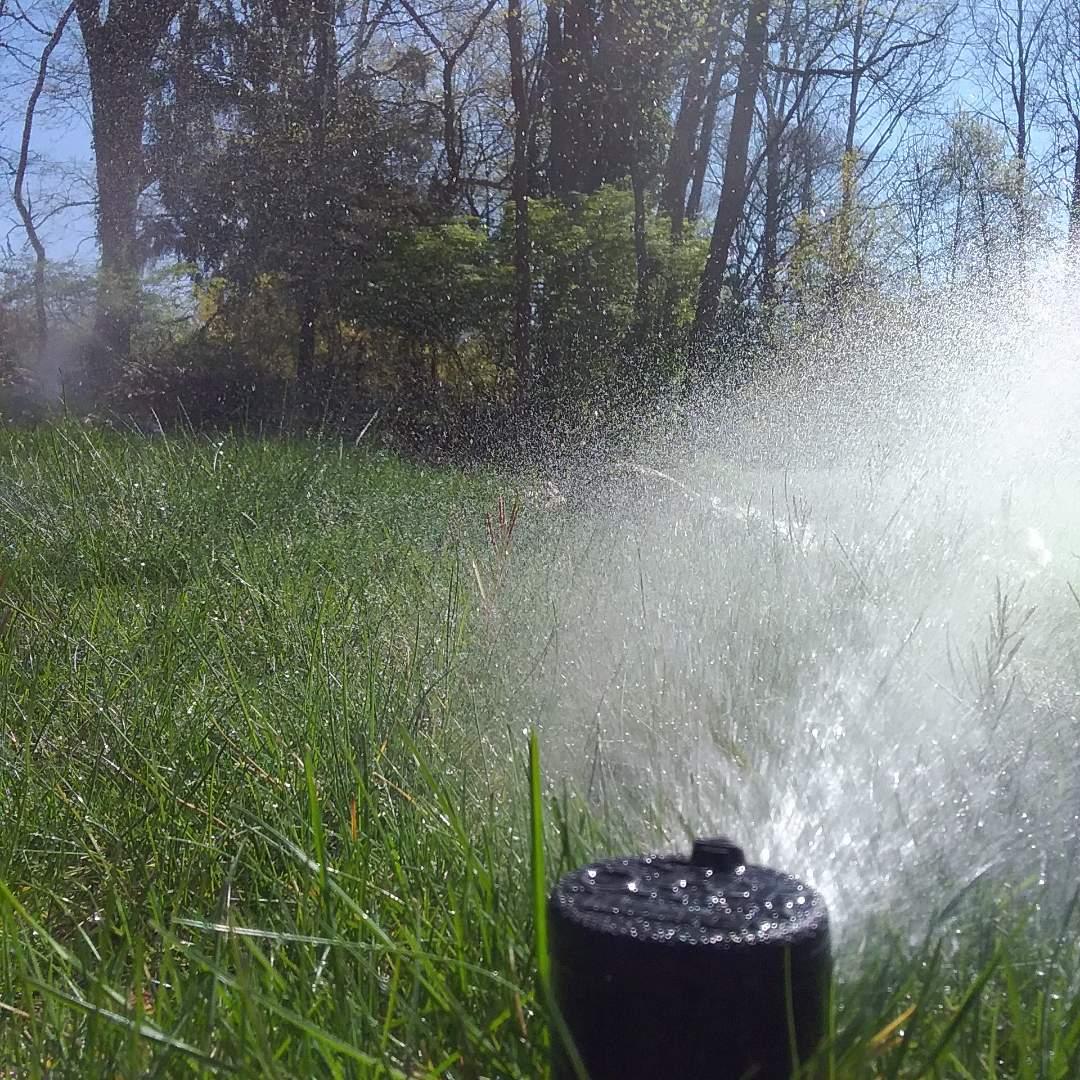 Lawn sprinkler system turn on