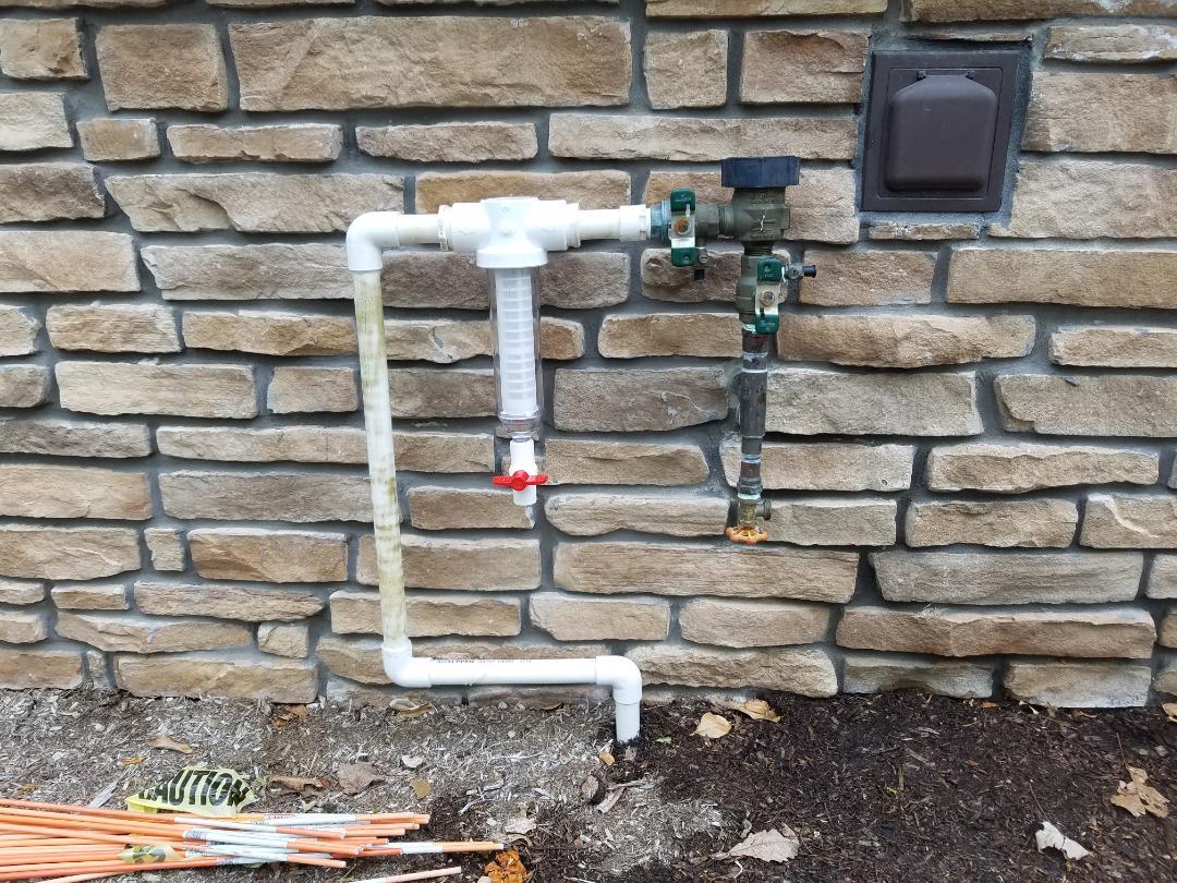 Irrigation System start up adjusting fix leak drip pipe install sediment filter zone-valve
