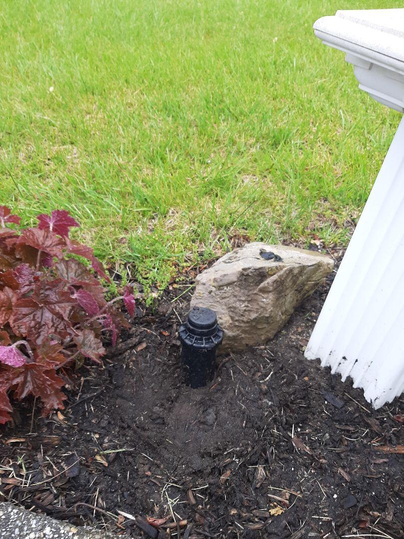 Spring start-up, irrigation sprinkler turn on. InSpring start-up, irrigation sprinkler turn on. In Rockaway NJ