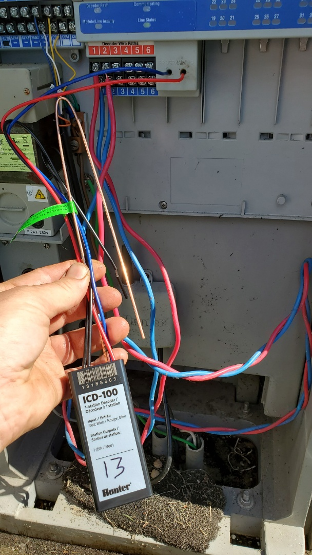 Replace decoder on a sprinkler 2 wire system