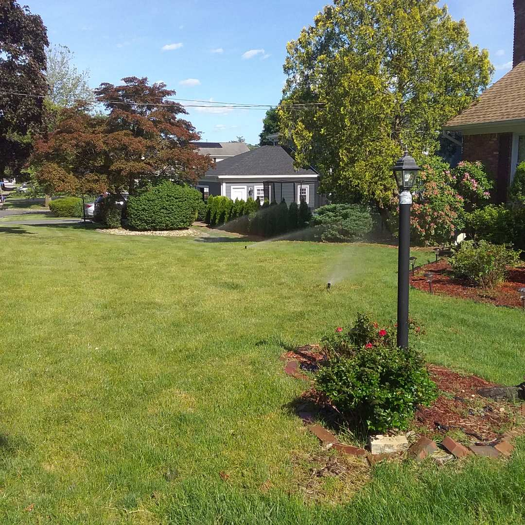 Installation of 2 new irrigation zones, and new outdoor lights