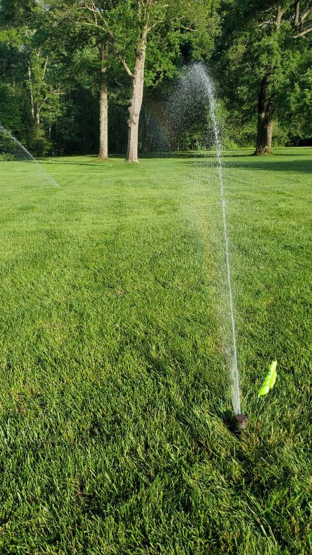 East Hanover, NJ - Check irrigation system and adjust heads