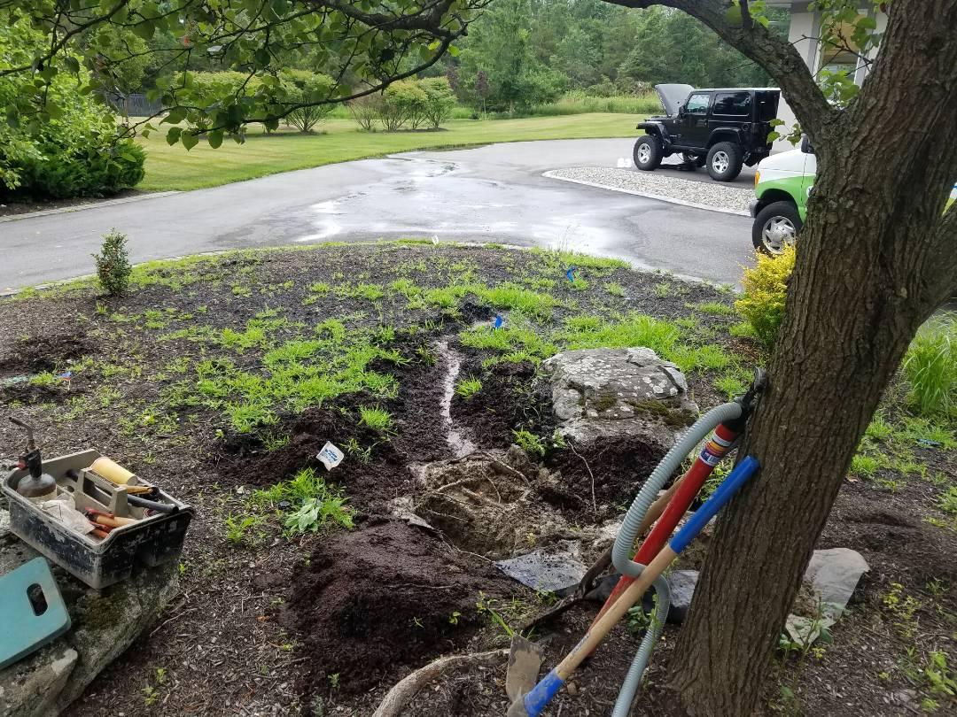 Irrigation repairs leaks heads