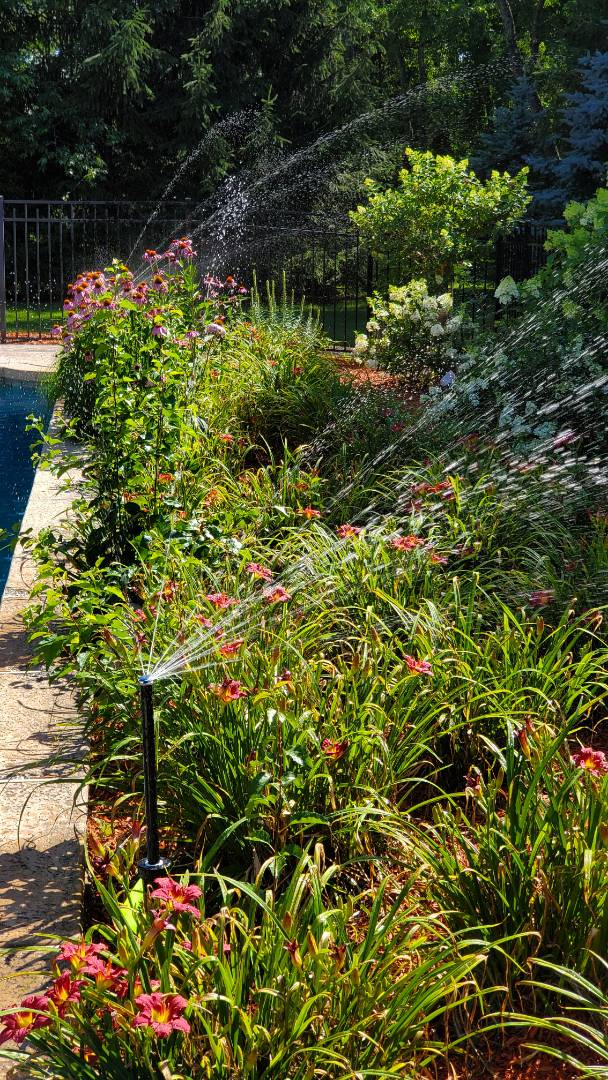 Replace sprinkler heads for better coverage on new plantings
