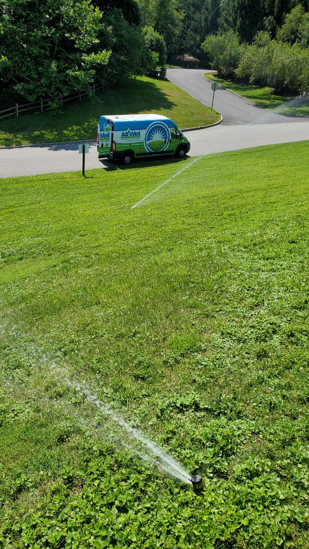 Mendham, NJ - Perform mid season check of sprinklers at entrance of a community.