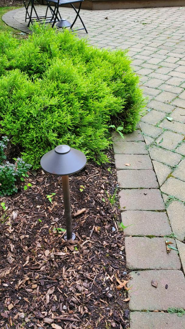 Replace old path light fixtures to new LED low voltage