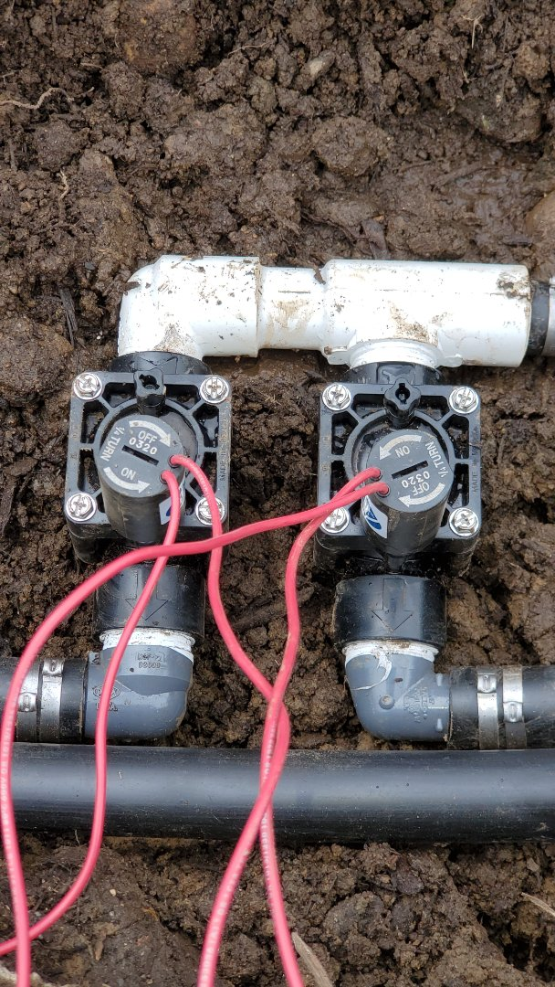 Replace broken sprinkler valves