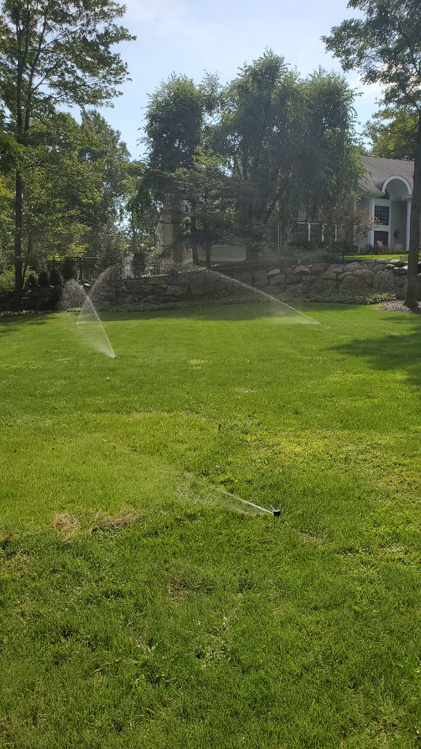 Perform mid season check on irrigation system. Move a few heads for better coverage and replace where needed.