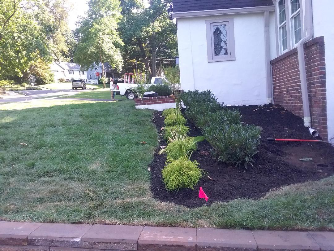 Install new 6 zone residential irrigation sprinkler system.
