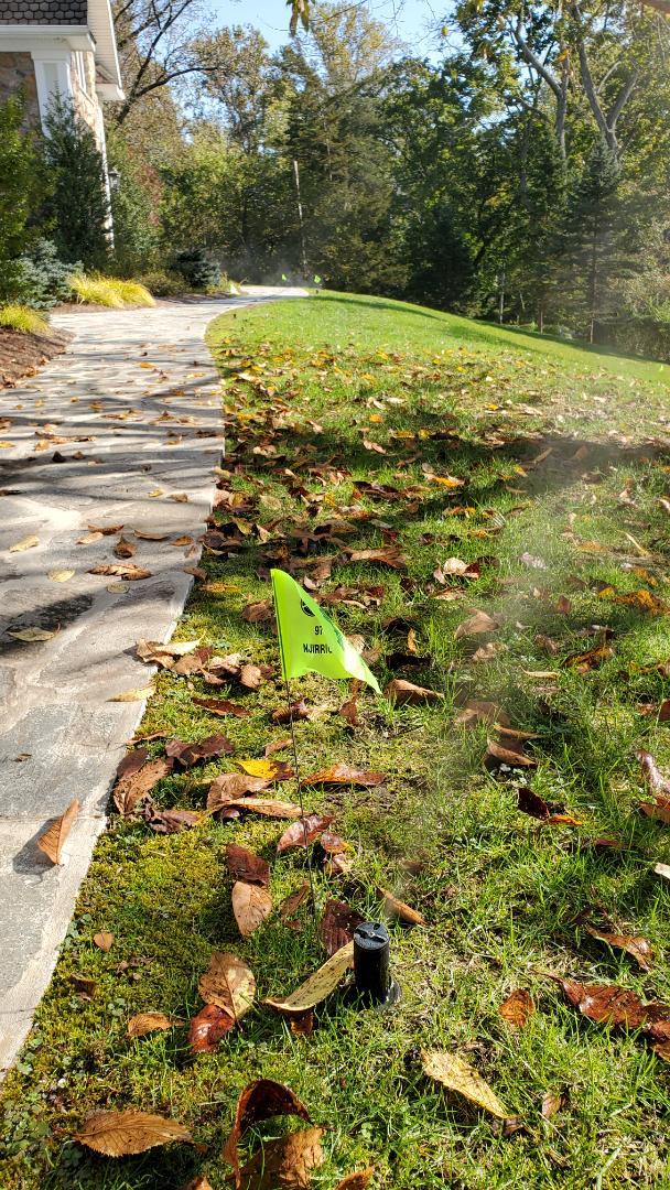 Flag all sprinkler heads to avoid damage on aeration